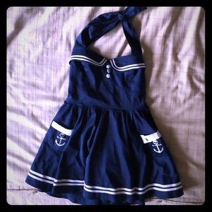 Sailor Girl Pin-up Style Dress